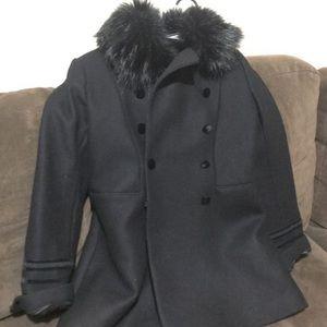 Black wool Zara coat